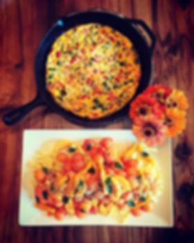 Garden Frittata n Tropical Fruit Salad w