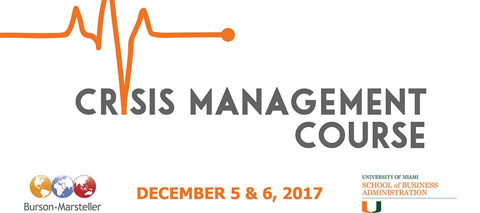 Burson-Marsteller Crisis Management Course