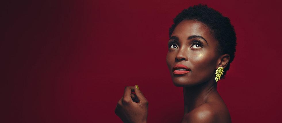 Modelo bonita Africano americano