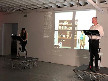 Actors Zoe Winters-Adam O'Byrne at Aperture Gallery