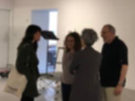 Actor Zoe Winter-Photographer Gail-Albert Halaban-Producer Darlene Kaplan-Director Steve Zuckerman at Aperture Gallery