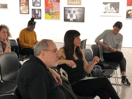 Photographer Gail-Albert Halaban-New Neighborhood producer Martina Harte-Producer Mary Seidel-the gang@Aperture
