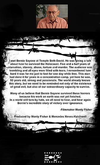 Bernie Sayonne_Auschwitz Survivor