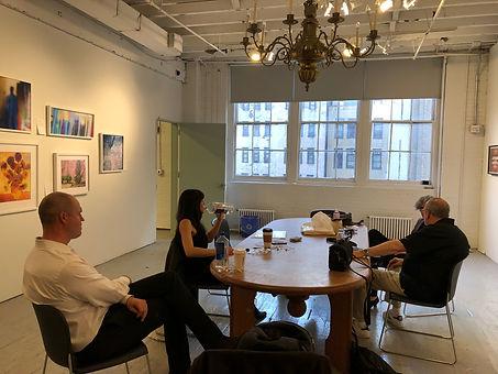 Actors Adam O'Byrne, Zoe Winters-Producer Darlene Kaplen-Director Steve Zuckerman@Aperture Gallery