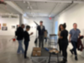 The production gang at Aperture Gallery