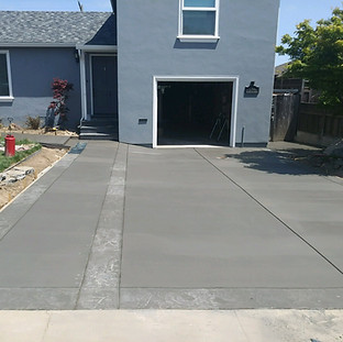 Driveway with Stamped Band