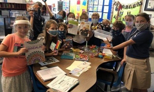 Samaritans Purse with fourth graders at