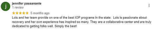 Jennifer Google Review of Solutions Outp