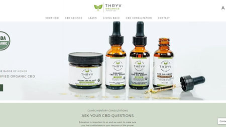 Thryv Organics website and marketing by