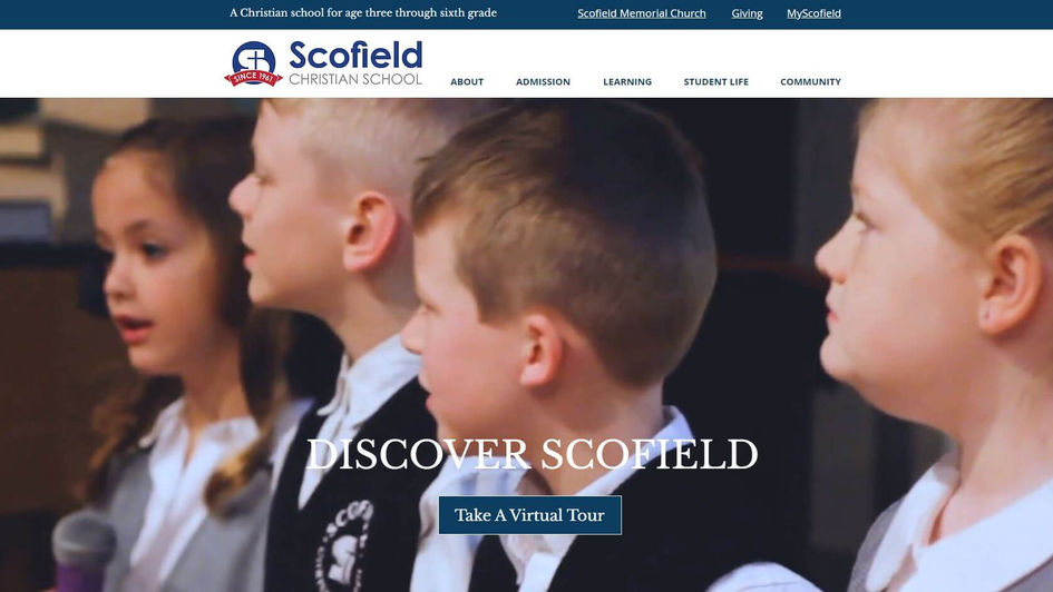 Scofield Christian School Website Marketing and SEO by The Charter Oak Group
