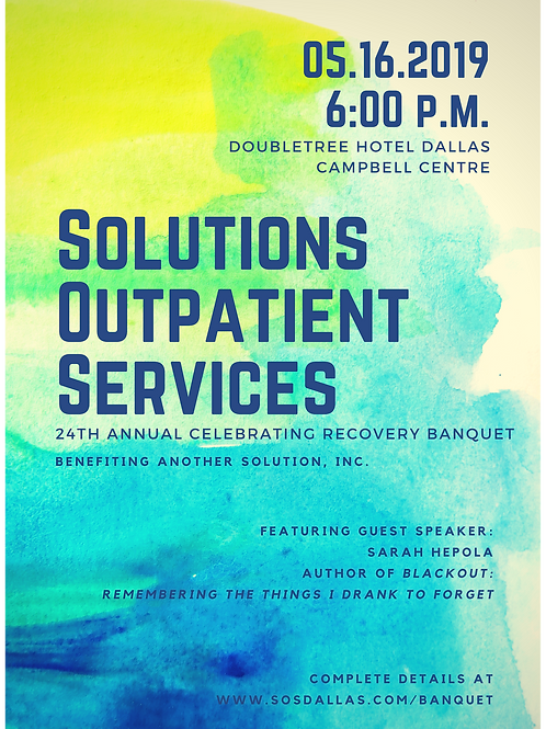 SOS 24th Annual Celebrating Recovery Ticket