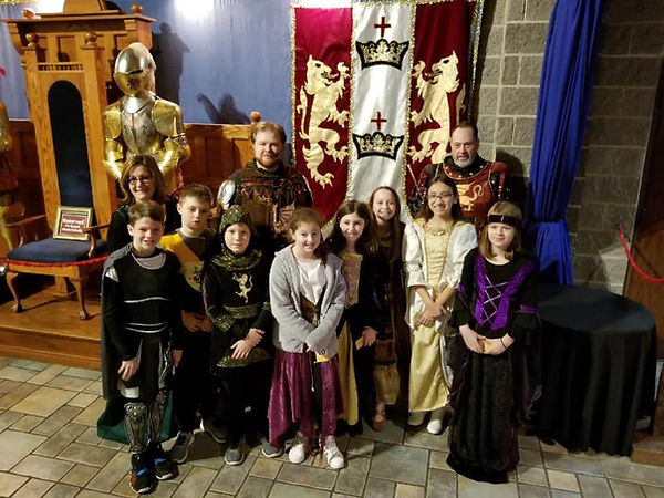 Medieval Times with the fifth graders at