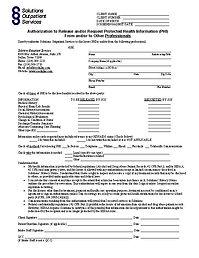 Professionals Authorization ro Release I