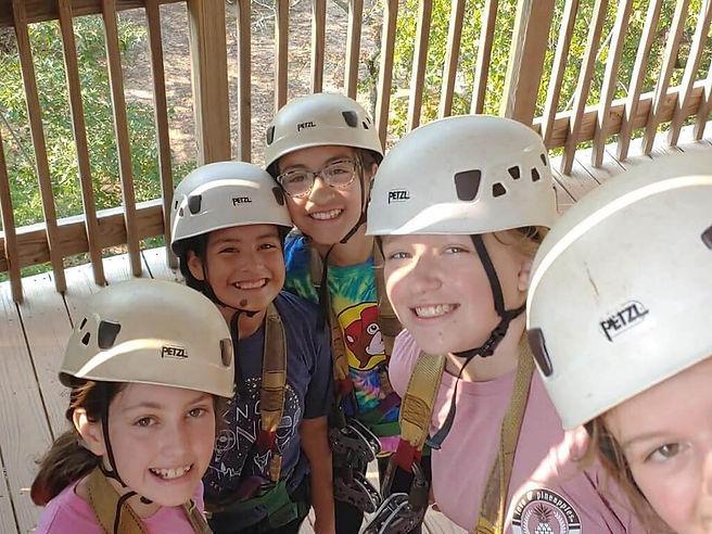6th graders at sky ranch leadership camp
