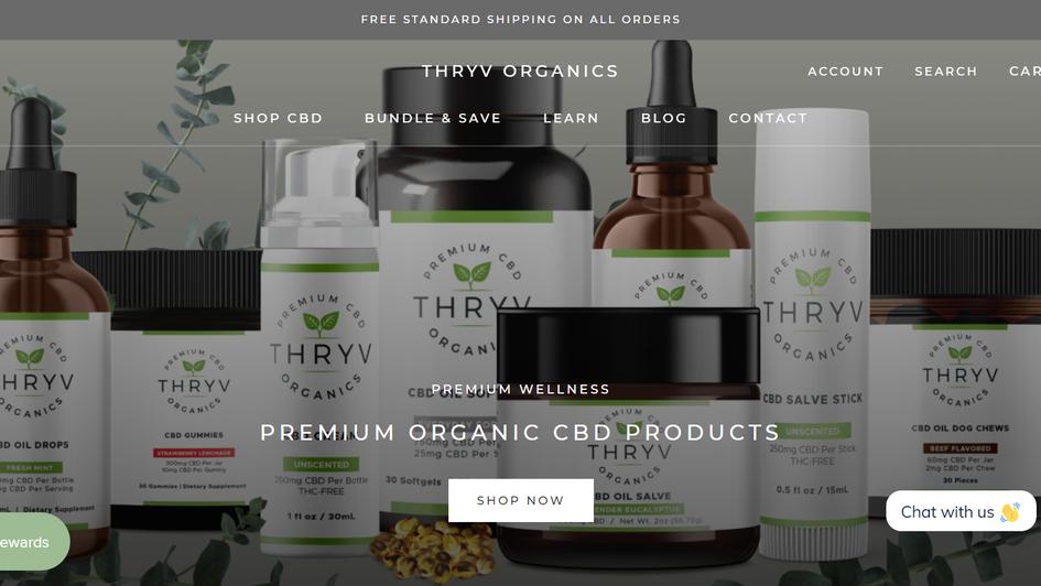 Thryv Organics Website - Digital Marketi