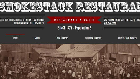 The Smokestack Restaurant Website