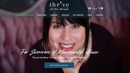 Thrive After Abuse website and marketing