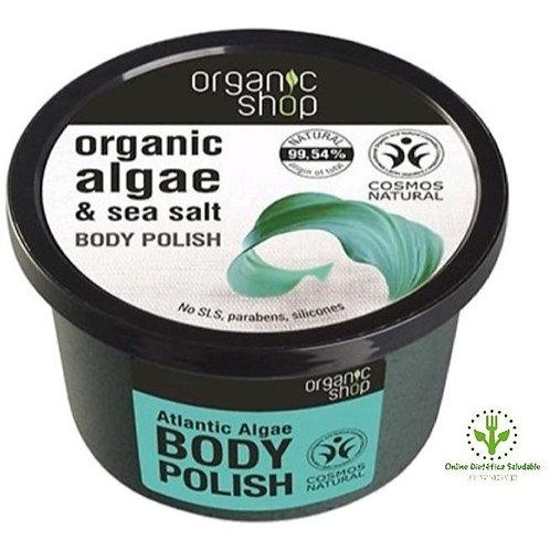 Alga y Sal del Atlantico exfoliante corporal Organic Shop