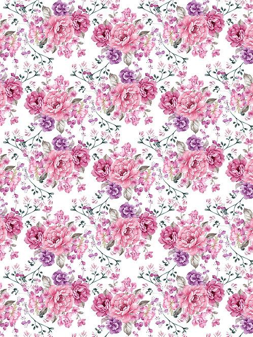 Papel Floral 7 - 20 unid