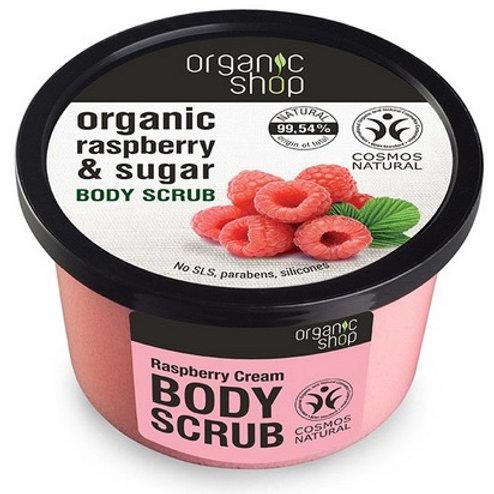 Frambuesa y Azucar exfoliante corporal Organic Shop
