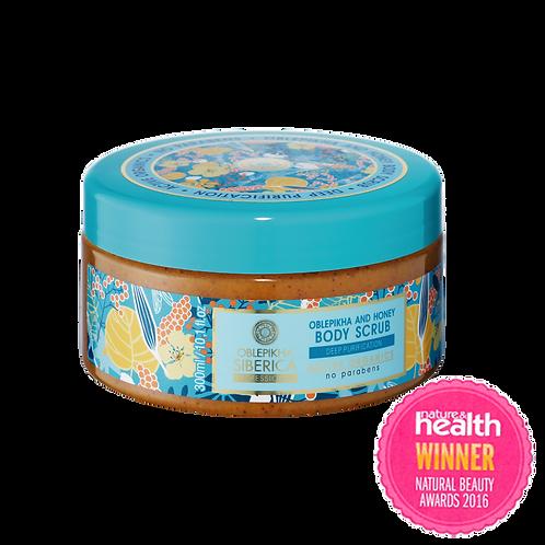 Exfoliante corporal Oblepikha y miel – Purificación profunda