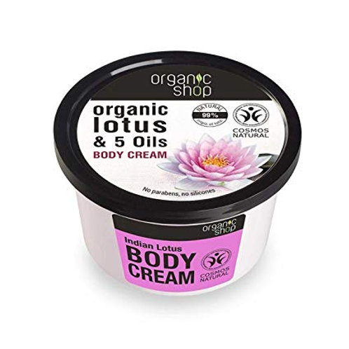 Flor de Loto de la India crema corporal Organic Shop