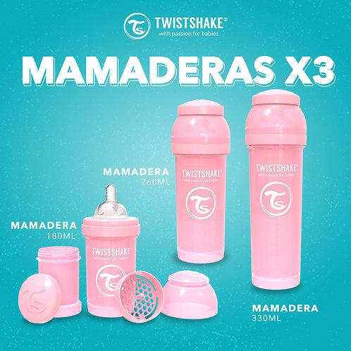 COMBO MAMADERAS x3