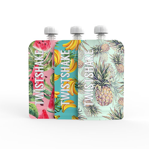 3x Squeeze Bag 220ml Twistshake