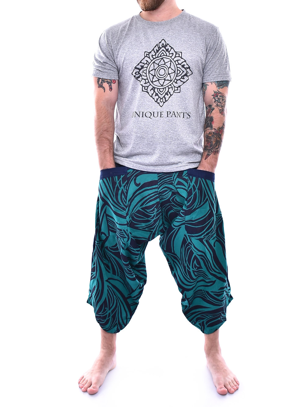Turquoise Brad Cole Art Print Samurai Pants