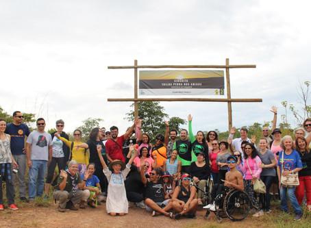 Projeto Ecotrilhas inaugura Trilha inclusiva Pedra dos Amigos na Serrinha do Paranoá no Lago Norte.
