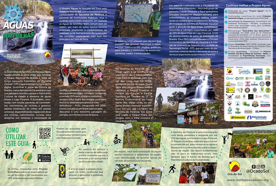 Arte Folder Ecotrilhas Texto Impresso 20