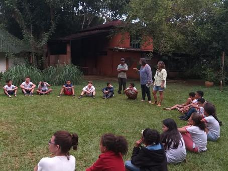 Estudantes da E.C Aspalha comemoram a semana das águas na Oca do Sol