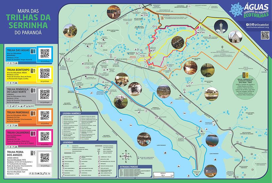 Arte Folder Ecotrilhas Mapa Impresso 202