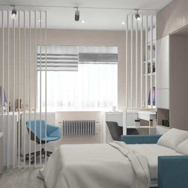 Спальня + рабочее пространство