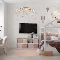 Уютный дизайн детской комнаты для маленькой принцессы из г. Люберцы
