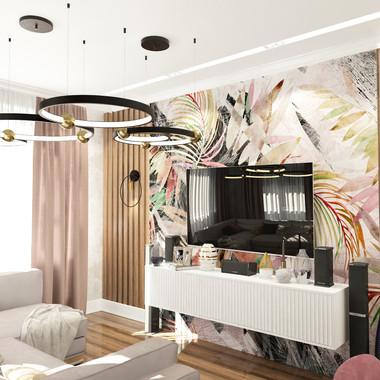 Сочная и спокойная гостиная