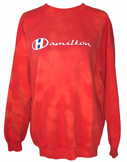 Hamilton XL Red crew neck sweatshirt