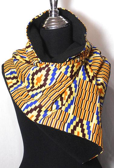 African Print Fleece lined Infinity Scarf
