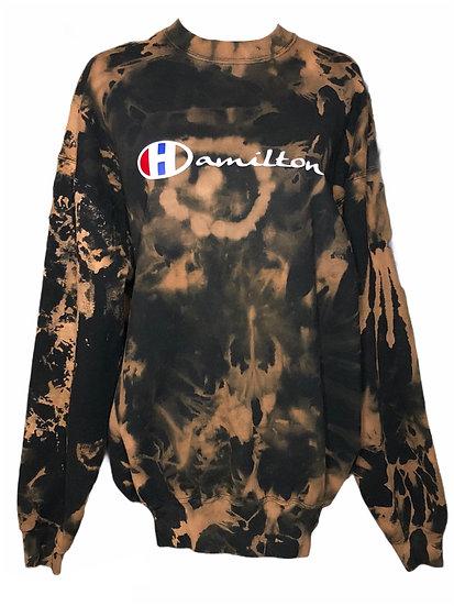 Hamilton Black XXL modified crewneck sweatshirt