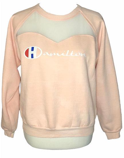 Hamilton Peach Small modified crewneck sweatshirt
