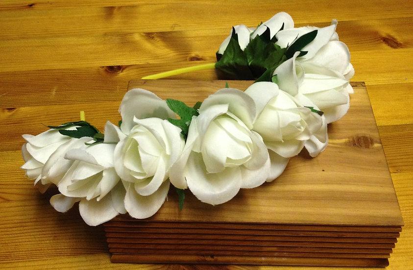 White Rose Flower headband