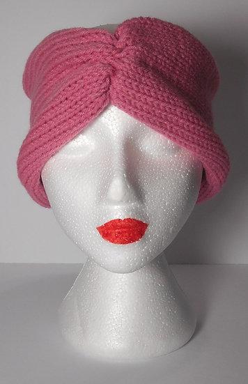 Rose Knit Head Band Ear Warmer