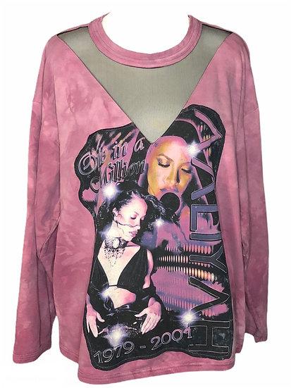 Aaliyah oversized Large modified sweatshirt