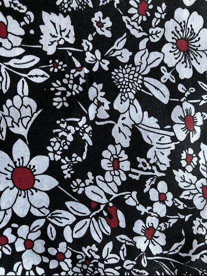 White & black floral