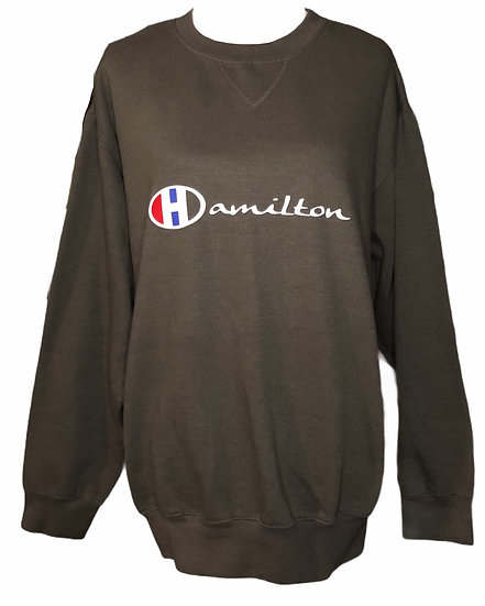 Charcoal brown Hamilton sweatshirt