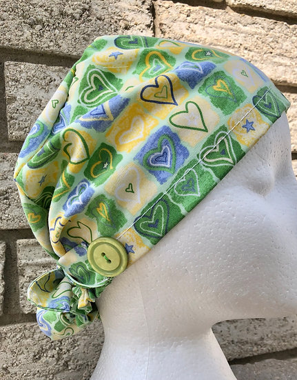 Eco-friendly Scrub Cap 3 pack Bundle - Made with pre-loved scrubs