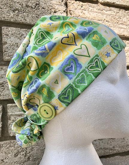 Eco-friendly Single Scrub Cap - Made with pre-loved scrubs