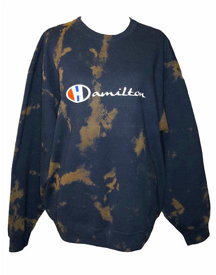 Deep Navy Blue Hamilton sweatshirt