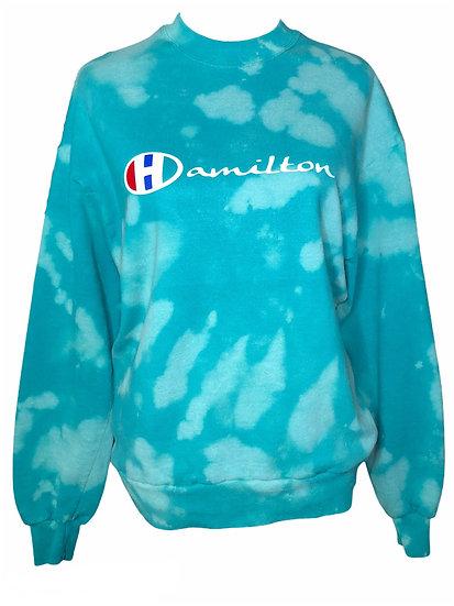 Hamilton turquoise Large modified crewneck sweatshirt