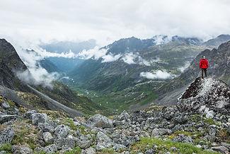 trail runner in Alaska